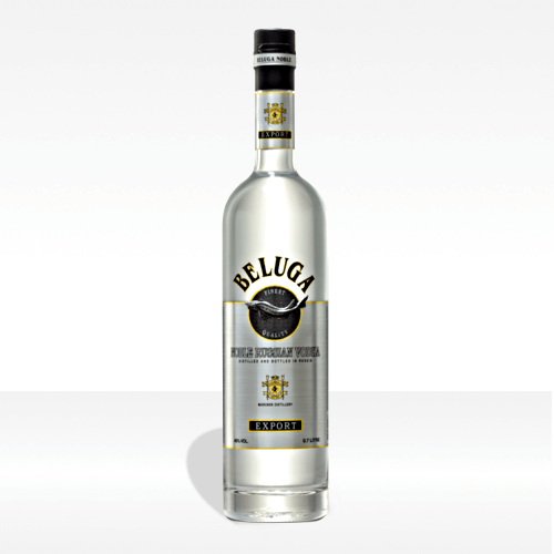 Beluga 'Noble' Russian vodka Export