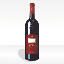 """Rosso di Montalcino DOC """"Poggio alle Mura"""" di Castello Banfi, vendita online"""