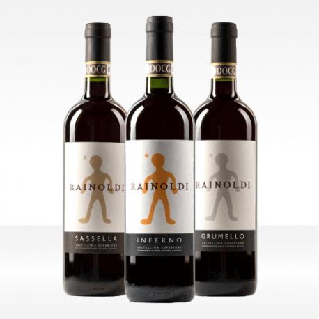 Set 'Assaggio della Valtellina' 3 vini Valtellina Superiore DOCG sassella, inferno e grumello aldo rainoldi