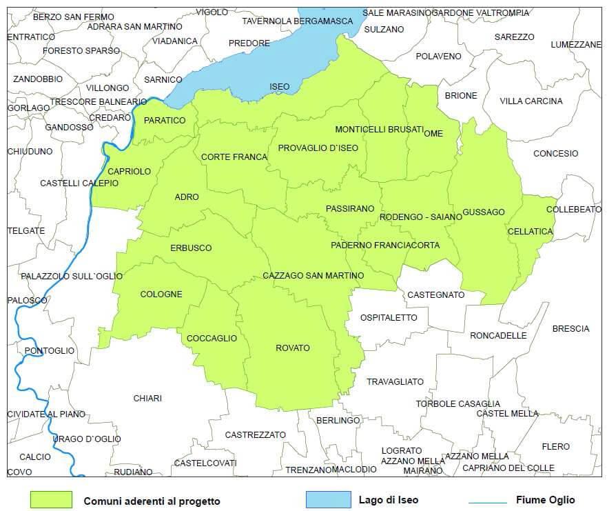 Mappa della Franciacorta