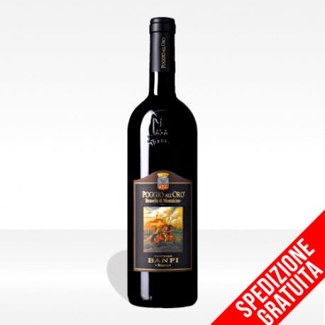 """Brunello di Montalcino DOCG """"Poggio all'Oro"""" di Castello Banfi, vendita online spedizione gratuita"""