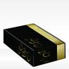 Confezioni regalo nero e oro con calici, 2 bottiglie