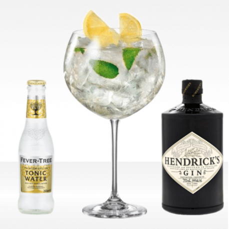 Gin Tonic kit, fever tree acqua tonica e hendrick's gin