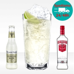 Moscow Mule con smirnoff vodka e ginger beer fevertree