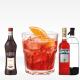 cocktail Americano con campari, vermut rosso e seltz soda