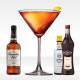 Cocktail Manhattan con rye whiskey canadian club, vermuth rosso martini ed angostrua bitter