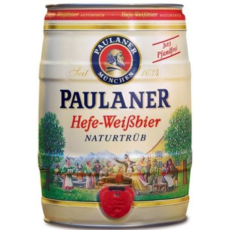 Fusto Birra Paulaner Hefe Weiss 5 litri