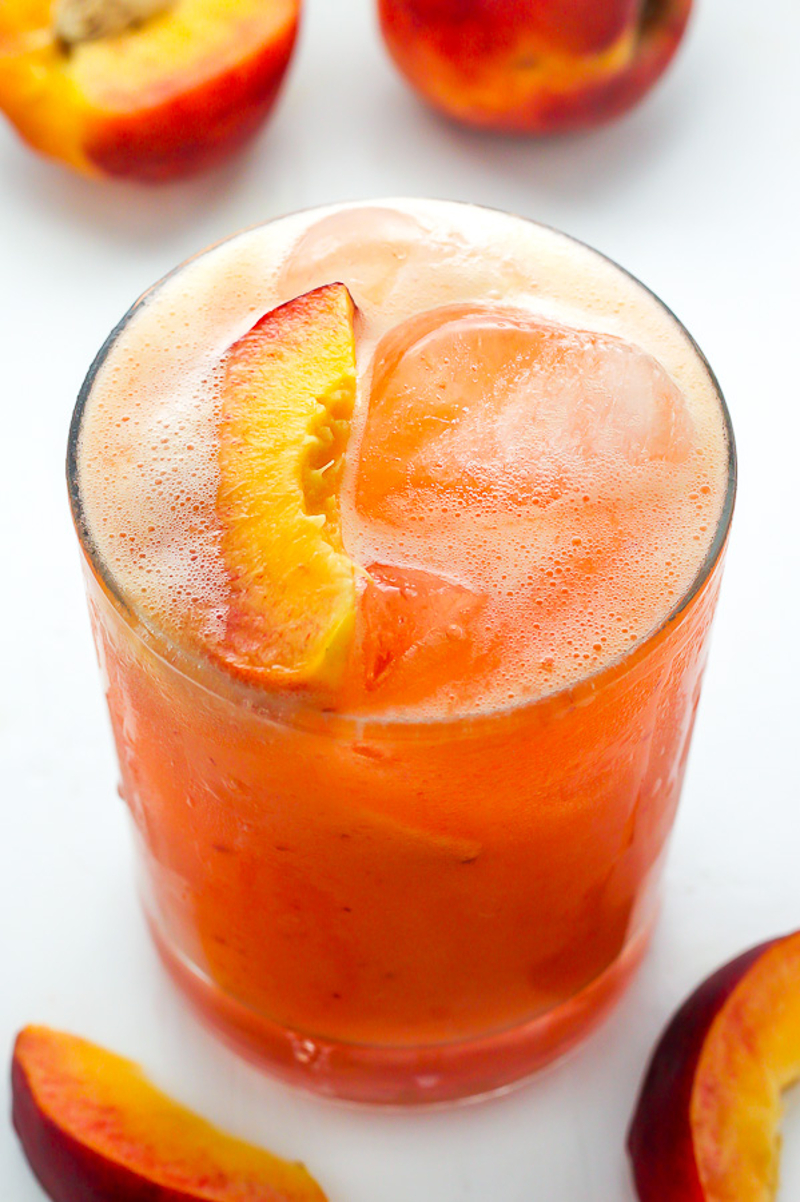 Cocktail Fresh Peach Prosecco